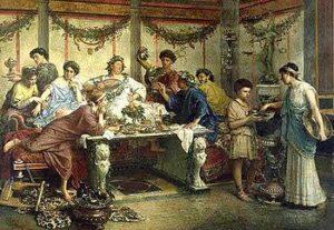 apparecchiare la tavola nell'antica roma